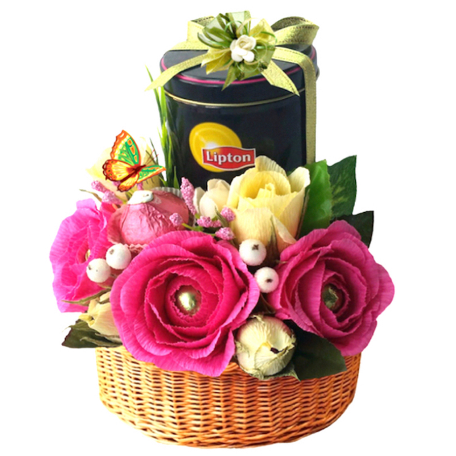 Lipton tea gift basket
