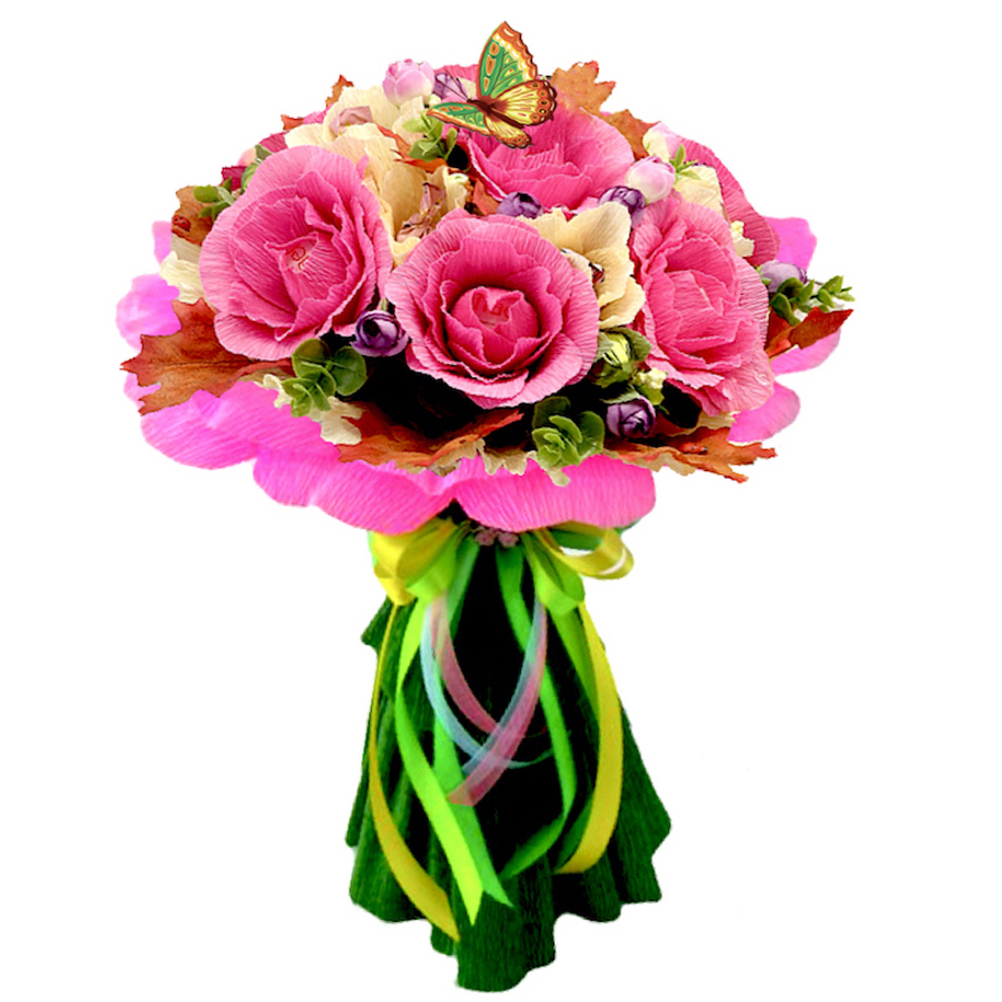 Pink candy bouquet with lindt lindor truffles chocolate pink candy bouquet izmirmasajfo