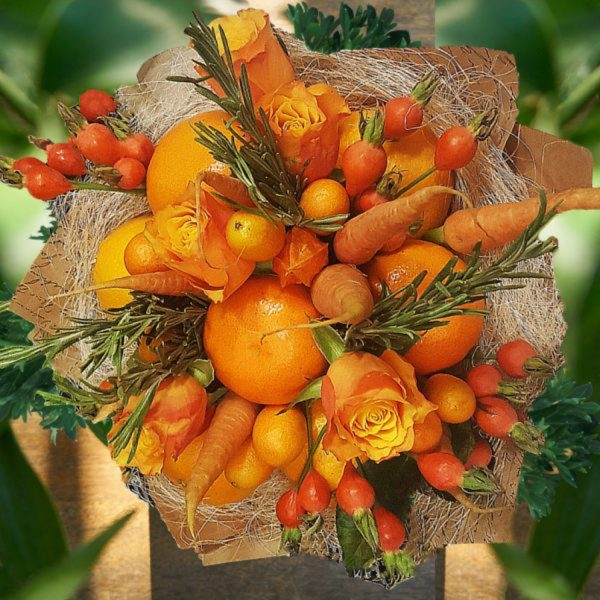 orange fruit bouquet