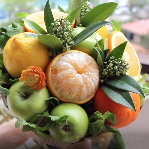 handmade uncommon fruit bouquet
