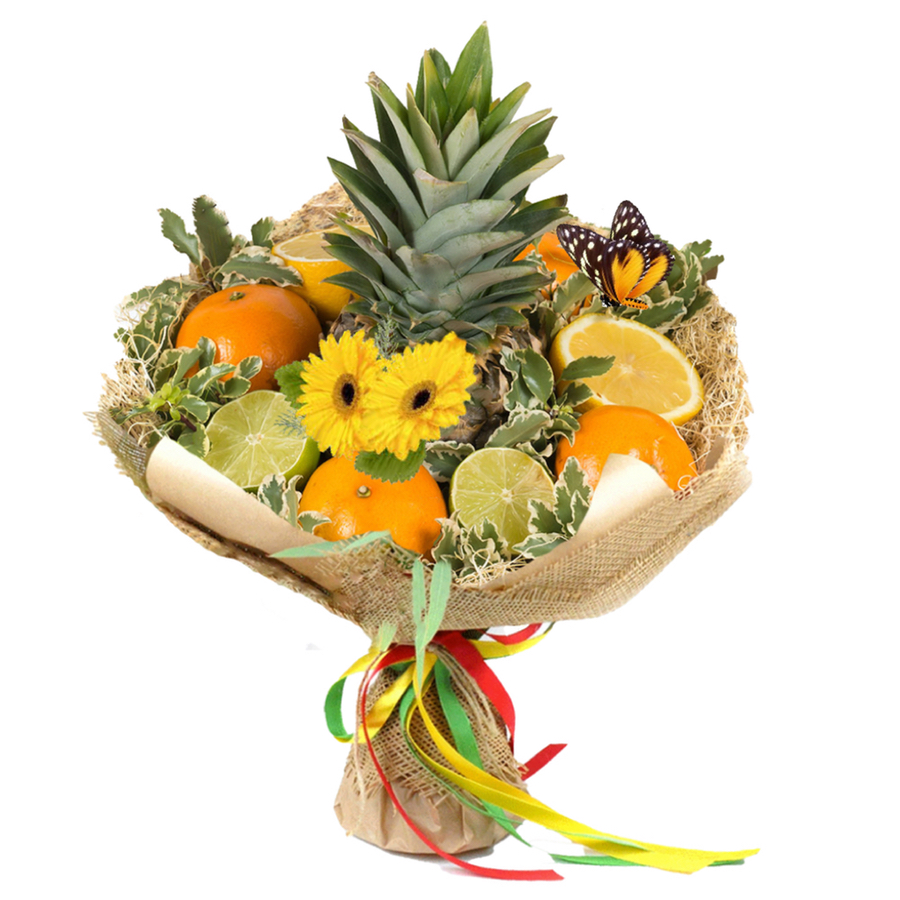 Handmade Uncommon Fruit Bouquet For Any Occasion With Cute Design