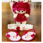 newborn baby girl crochet handmade set1