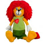handmade stuffed crochetеd toy lion