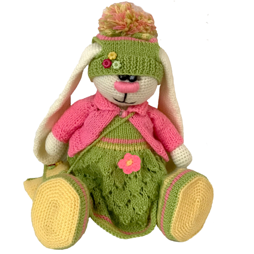 crochet bunny girl toy