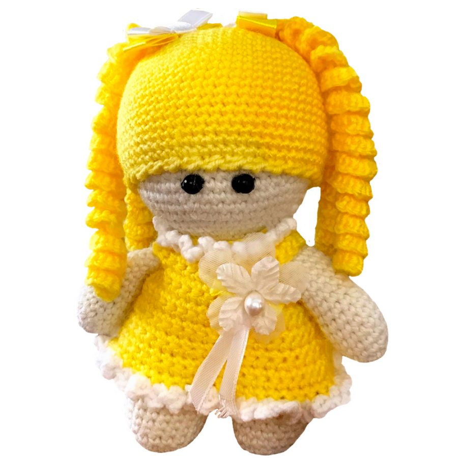 Crochet Newborn Baby Girl Set With A Matching Toy Doll