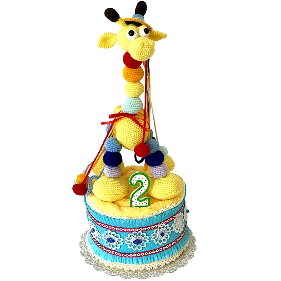 Birthday Baby Gift 2 Year Old With A Crochet Giraffe Toy