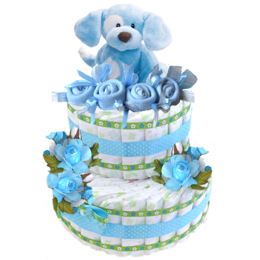 baby boy diapers cake