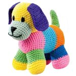 cute puppy toy soft crochet animal2