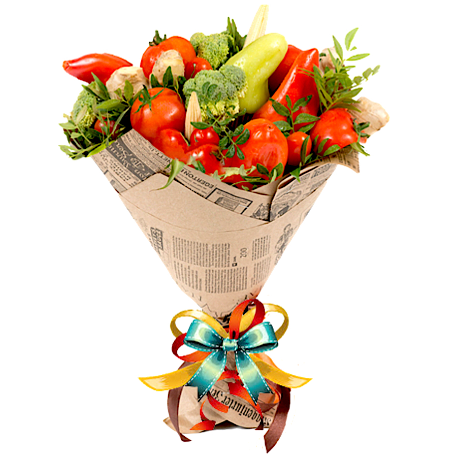 handmade vegetable bouquet
