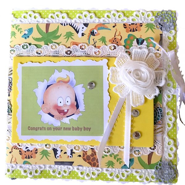 handmade baby shower card